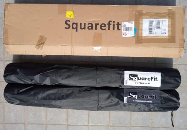 Les tapis SquareFit au moment de la livraison