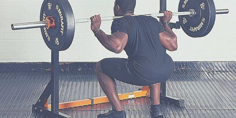 Support squat réglable avec station à dips pas cher