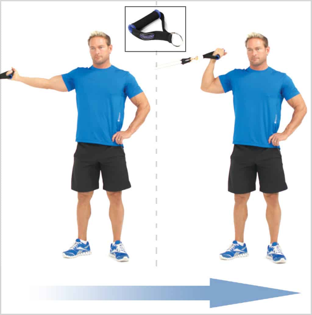 Exercices pour se muscler : Curl biceps unilatéral bande élastique