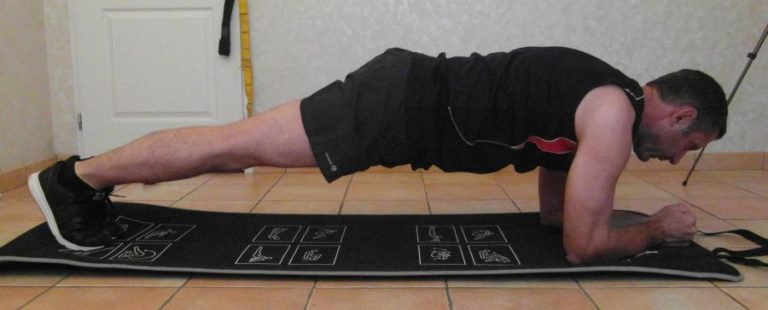 Planche pour son programme fitness à la maison