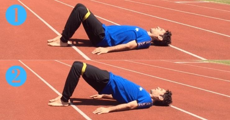 extension de hanches avec bandes élastiques