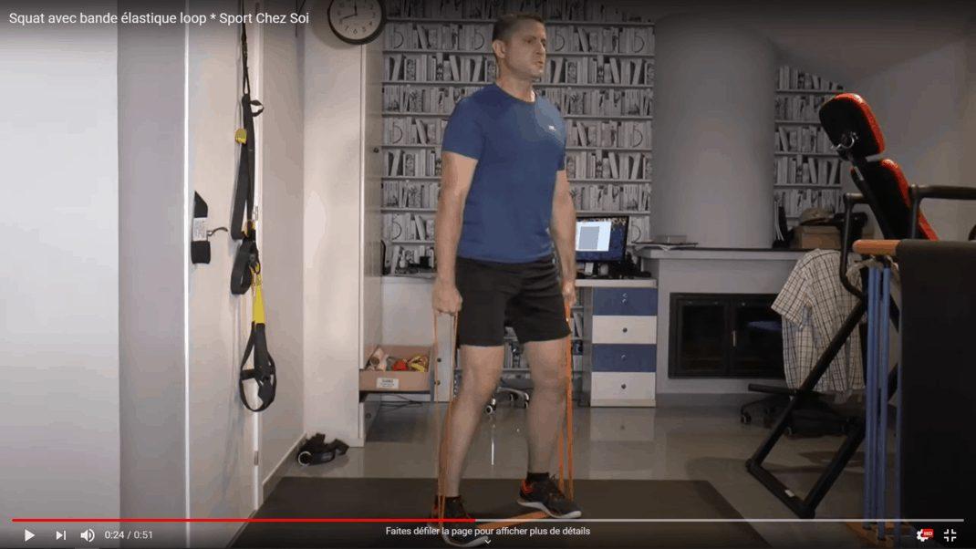 Squats bande élastique loop