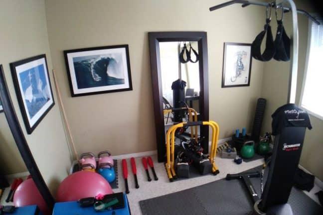 matériel de sport à la maison