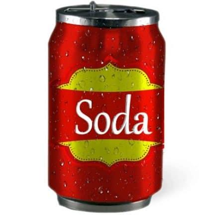 Je mange beaucoup en buvant du soda