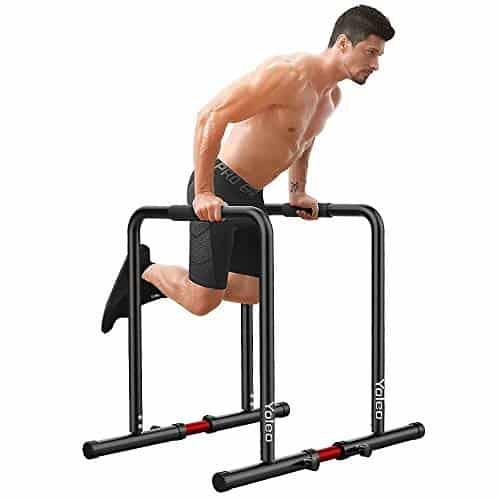 YOLEO Station De Musculation Barres Dip Parallèles avec Barre de Largeur Ajustable - pour Les Entraînements de Poids Corporel/Calisthenics