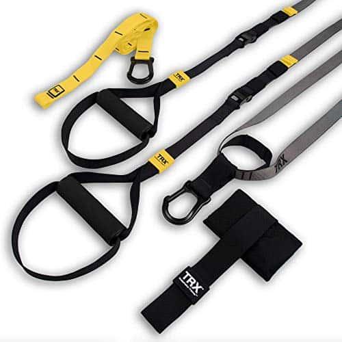 Entraînement TRX - GO Suspension Trainer Kit, le système d'entraînement par suspension le plus léger, le plus fin jamais conçu - parfait pour voyager et s'entraîner à l'intérieur ou dehors (Noir).