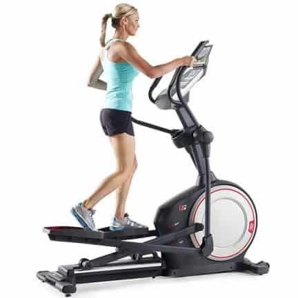 Vélo elliptique roue d'inertie à l'avant