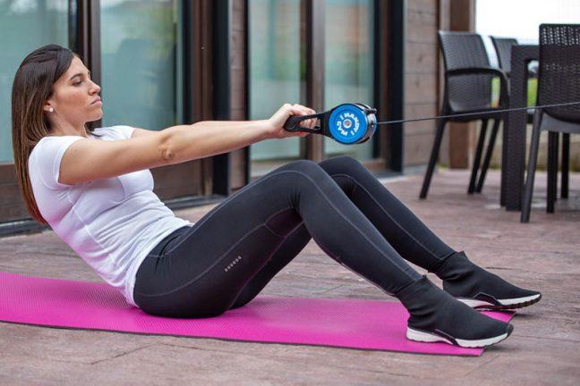 exercices isoinertiel avec Handy Gym