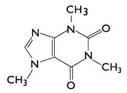 Molécule de caféine bruleur de graisse